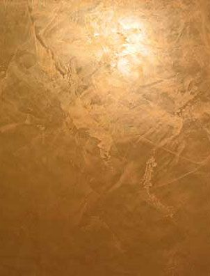 Venetian Plaster Tone-on-Tone Technique with Gold Topcoat